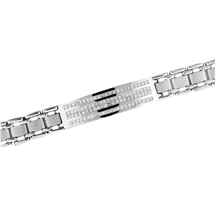 18KTW INVISIBLE SET BRACELET  4.41CT