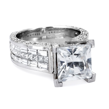 18KTW INVISIBLE SET ENGAGEMENT RING  2.99CT