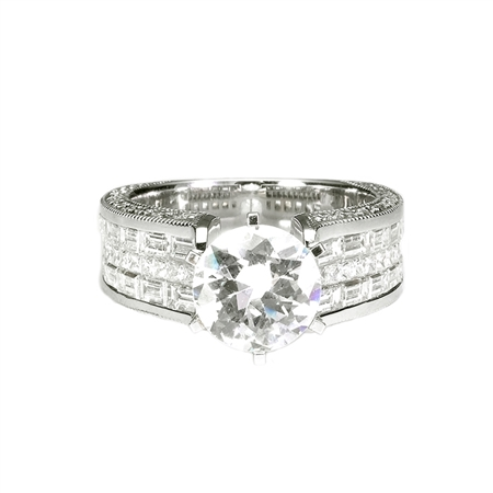18KTW INVISIBLE SET ENGAGEMENT RING 2.21CT
