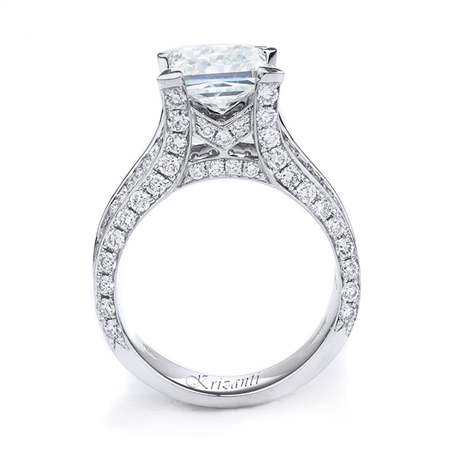 18KTW INVISIBLE SET ENGAGEMENT RING 2.83CT