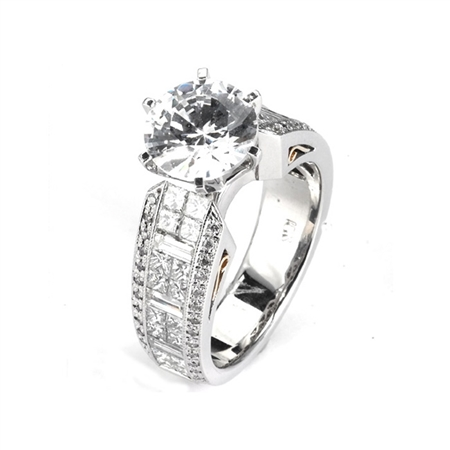 18KTW INVISIBLE SET ENGAGEMENT 1.86CT