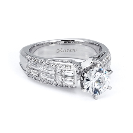 18KTW INVISIBLE SET ENGAGEMENT RING 1.37CT