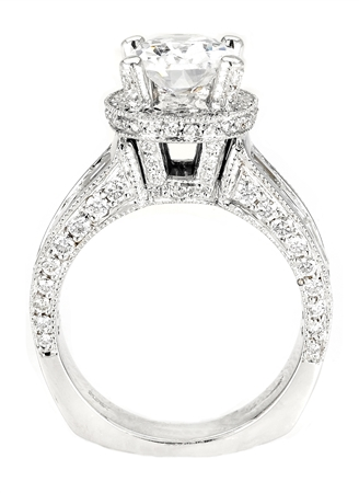 18KTW INVISIBLE SET ENGAGEMENT RING 2.45CT