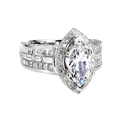 18KTW INVISIBLE SET ENGAGEMENT RING 2.64CT