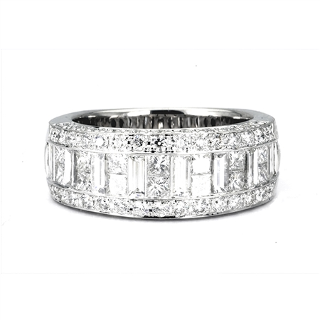 18KTW INVISIBLE SET BAND,  DIAMOND 2.74CT