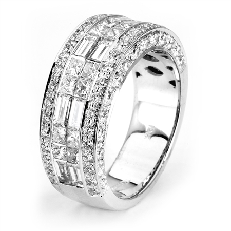 18KTW INVISIBLE SET BAND,  DIAMOND 2.85CT