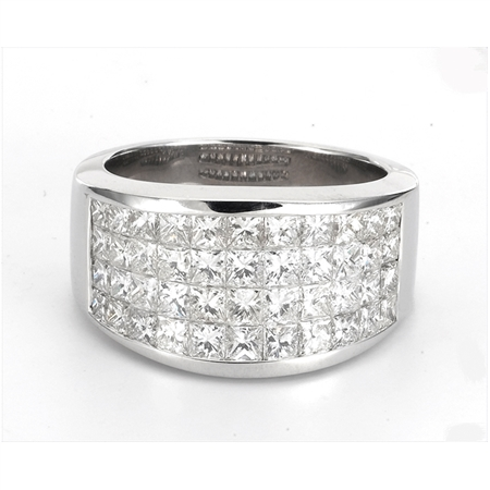18KTW INVISIBLE SET BAND,  DIAMOND 3.14CT