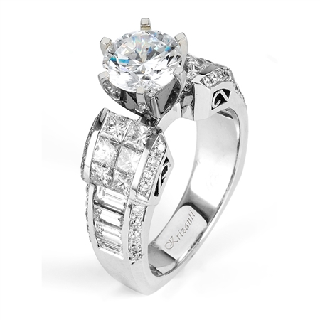 18KTW INVISIBLE SET,  ENGAGEMENT RING 2.08CT