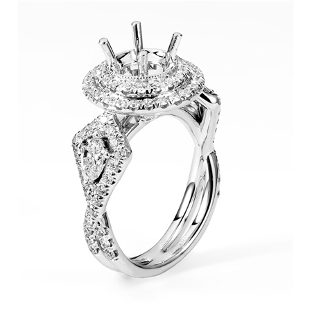 18KTW ENGAGEMENT RING 1.62CT