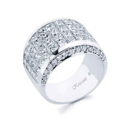 18KTW INVISIBLE SET BAND, DIAMOND 6.04CT