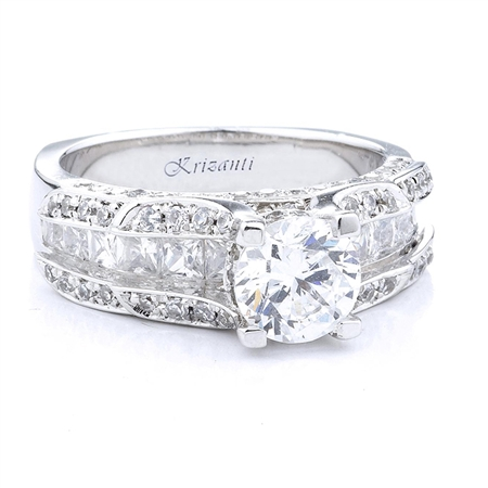 18KTW ENGAGEMENT RING, DIAMOND