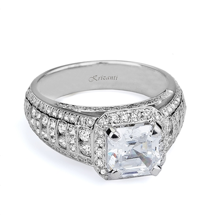 18KTW ENGAGEMENT RING 1.36CT