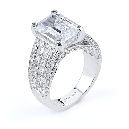 18KTW INVISIBLE SET, ENGAGEMENT RING 2.28CT