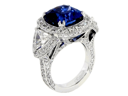 18KTW ENGAGEMENT RING 3.20CT