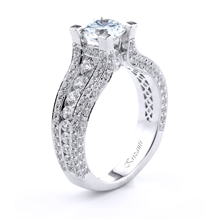 18KT.W ENGAGEMENT RING 1.62CT