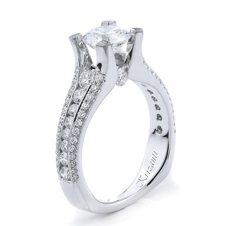 18KT ENGAGEMENT RING 1.10CT