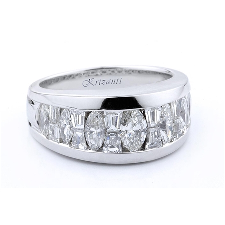 18KTW INVISIBLE SET BAND, DIAMOND 2.25CT