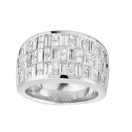 18KTW INVISIBLE SET BAND, DIAMOND 3.92CT
