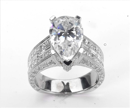 18KTW INVISIBLE SET ENGAGEMENT RING, DIAMOND  2.55CT