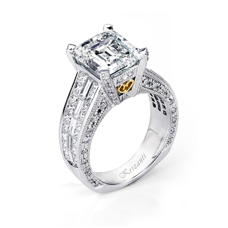 18KTW INVISIBLE SET  ENGAGEMENT RING 2.31CT
