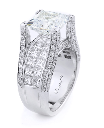 18KT WHITE ENGAGEMENT DIAMOND 3.27CT