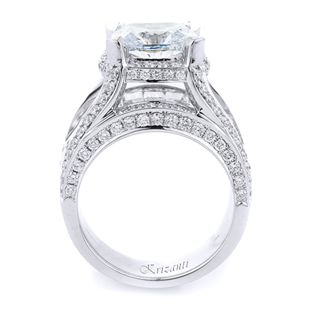 18KT WHITE ENGAGEMNT DIAMOND 3.27CT