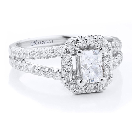 18KTW ENGAGEMENT RING 0.67CT