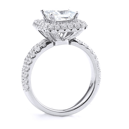 18KT WHITE ENGAGEMENT 1.15 CT