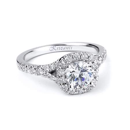 18KTW ENGAGEMENT RING 0.57CT