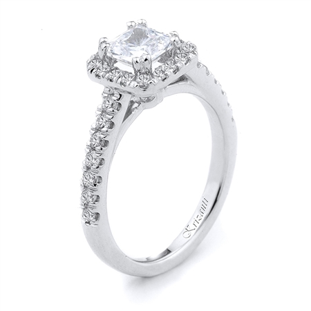 18KTW ENGAGEMENT RING 0.55CT