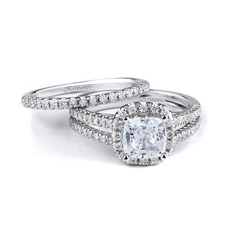 18KTW ENGAGEMENT SET 0.60CT