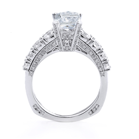18KT.W ENGAGEMENT RING 1.14CT