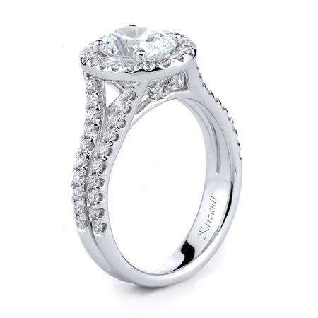 18KTW ENGAGEMENT RING, DIAMOND 0.66CT