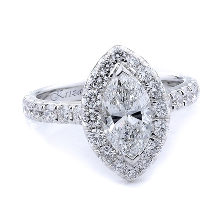 18KTW ENGAGEMENT RING 0.90CT