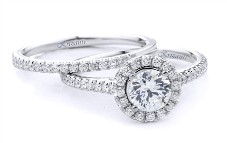 18KTW ENGAGEMENT SET, DIAMOND 0.58CT