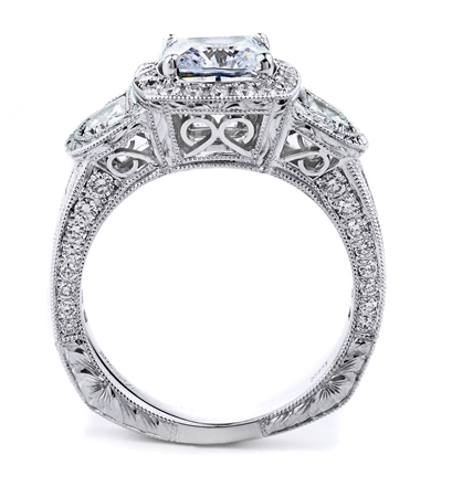 18KT WHITE ENGAGEMENT RING, DIAMOND 1.79CT