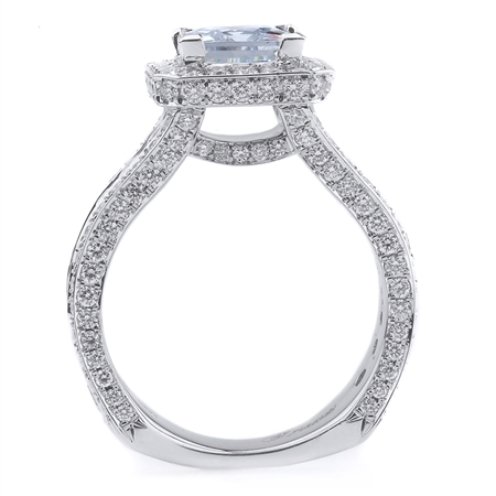18K WHITE ENGAGEMENT RING 2.37CT