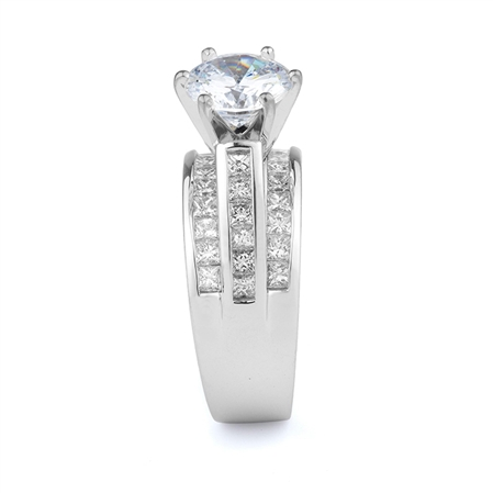 18KT WHITE ENGAGEMENT RING, DIAMOND 1.37CT