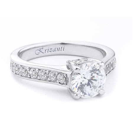 18KTW ENGAGEMENT RING 0.46CT