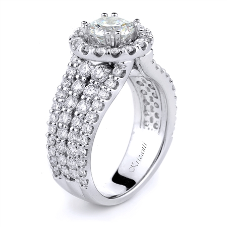 18KT WHITE ENGAGEMENT RING, DIAMOND 1.94CT