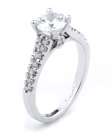 18KTW ENGAGEMENT RING 0.35CT