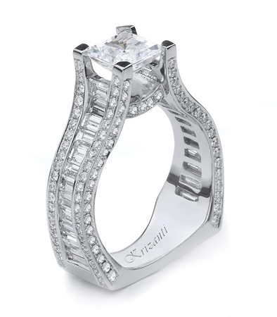 18KTW ENGAGEMENT RING 2.28CT