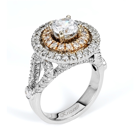 18KT 2 TONE  ENGAGEMENT RING 1.03CT