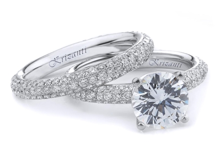 18KTW ENGAGEMENT SET, DIAMOND 1.45CT