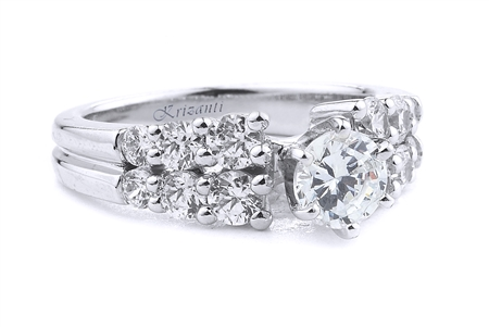 18KT.W ENGAGEMENT RING 1.05CT