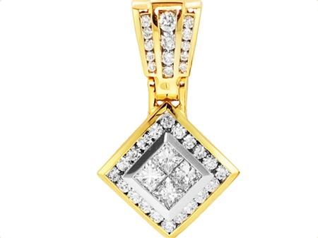 18K WHITE PENDANT 2.12ct