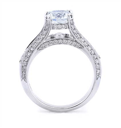 18K WHITE ENGAGEMENT RING 1.37CT
