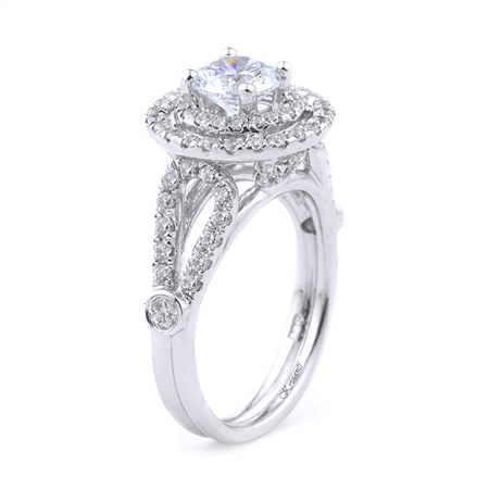 18KT WHITE ENGAGEMENT RING 0.82CT