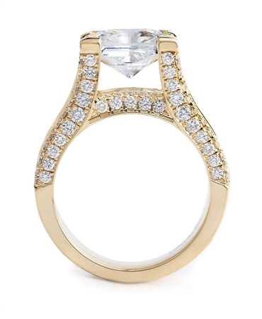 18K WHITE ENGAGEMENT BRIDGE RING 3.33ct