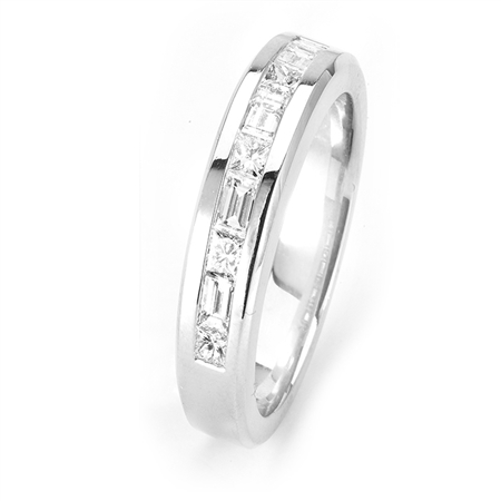 18KTW INVISIBLE SET  GENT'S BAND, DIAMOND 1.16CT
